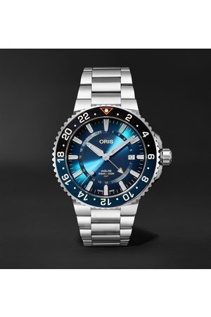 Oris Men Watches - Aquis Carysfort Reef Limited Edition Automatic 43.5mm Stainless Steel Watch, Ref. No. 01 798 7754 4185-Set MB