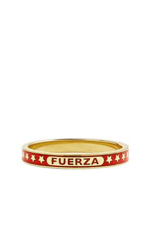 Foundrae Men Rings - Fuerza 18-Karat Gold and Enamel Ring