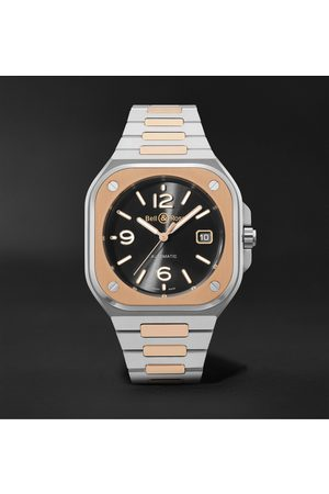 Bell & Ross Men Watches - BR 05 Automatic 40mm 18-Karat Rose Gold and Steel Watch, Ref. No. BR05A-BL-STPG/SSG