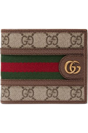 Gucci Men Wallets - Ophidia Webbing-Trimmed Monogrammed Coated-Canvas and Leather Billfold Wallet