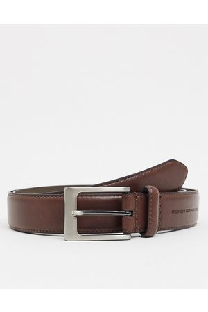 French Connection Keeper buckle belt in leather