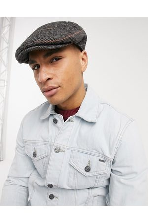 French Connection Winter flat cap in check