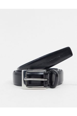 French Connection Men Belts - Classic leather belt in
