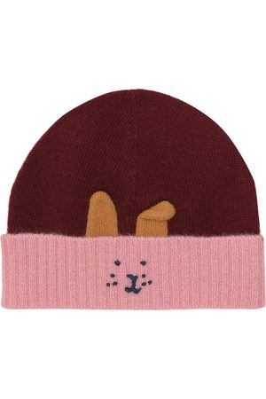 Il gufo Embroidered wool beanie