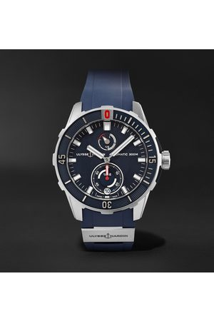 Ulysse Nardin Diver Chronometer Automatic 42mm Stainless Steel and Suede Watch, Ref. No. 1183-170-3/93
