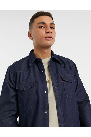 Levi's Levi's Barstow western relaxed fit denim shirt in bonded denim rinse