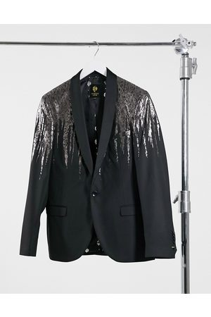 Twisted Tailor Blazer with silver drip in