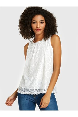 YOINS Lace Tiered Design Sleeveless Tank Top
