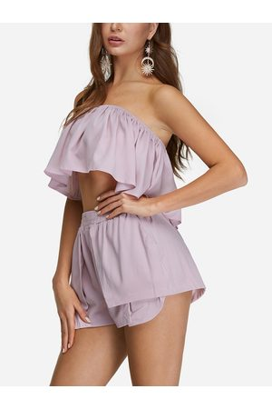 YOINS Sexy Off Shoulder Layered Co-ord