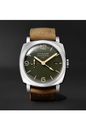 PANERAI Radiomir GMT Automatic 45mm Stainless Steel and Leather Watch, Ref. No. PAM00998