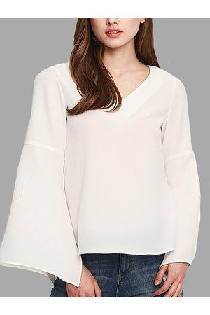 YOINS See-through Flared Sleeves Shirt in
