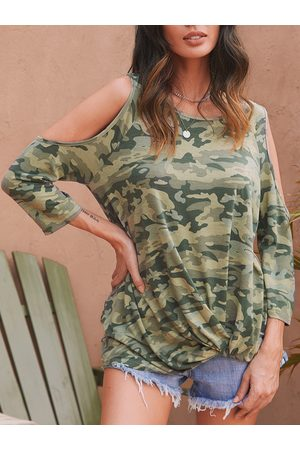 Yoins Camouflage Knotted Fashion T Shirt