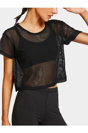 YOINS Active Sheer Mesh Top in