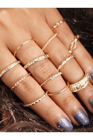 YOINS Gold Color Round Ring Set