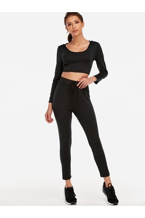 YOINS Active V-neck High-waisted Tracksuit in