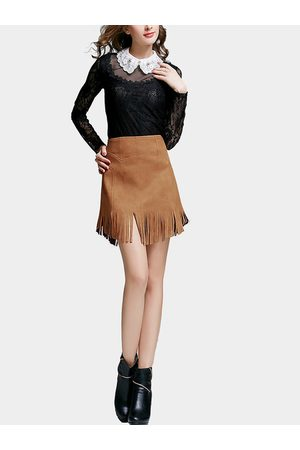 YOINS Fringe Tassel Mini Skirt