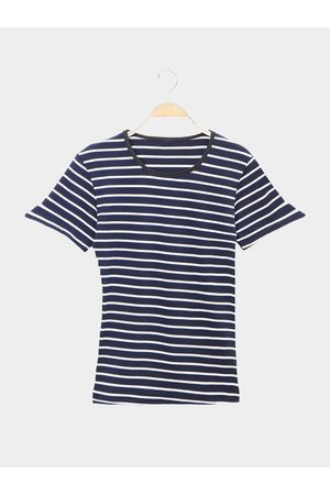YOINS Double Color Stripe Pattern Casual T-shirts
