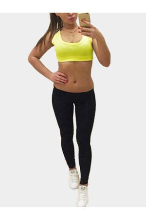 YOINS Double Round Neck Sleeveless Bodycon Fit Tracksuit