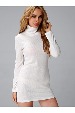 YOINS Sexy Bodycon Rollneck Long Sleeves Mini Dress