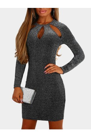YOINS Cut Out Glittering Bodycon Sexy Dress