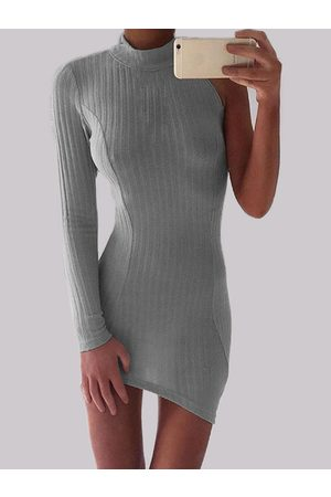 YOINS Half Sleeve Crew Neck Bodycon Dress