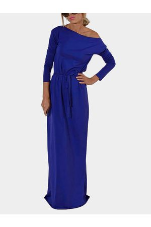 YOINS One Shoulder Long Sleeves Party Dresses with Belt