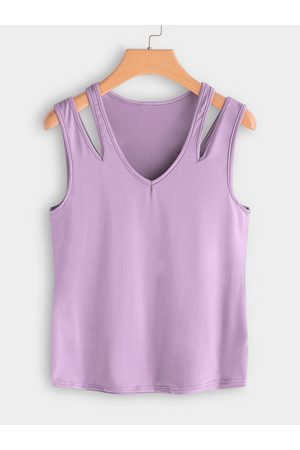 YOINS Cutout Shoulder V-neck Vest