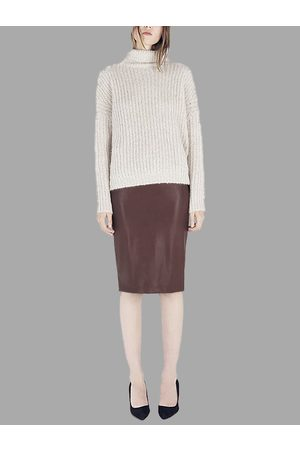 YOINS Artificial Leather Pencil Skirt in