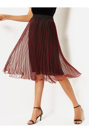 YOINS Mesh High-waisted Pleated Skirts With Lining