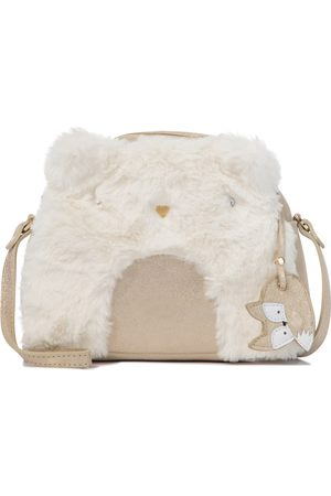 BONPOINT Igloo leather and faux fur bag