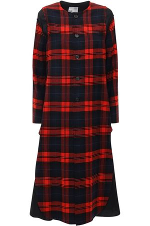 NOIR KEI NINOMIYA Women Coats - Wool Tartan Check Long Coat