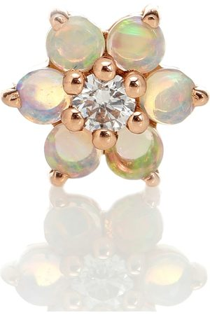 Maria Tash Garland 18kt rose single earring with opal and diamond
