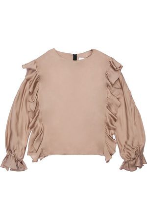 Unlabel Ruffled Satin Shirt