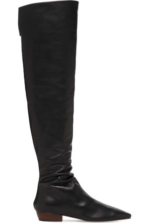 The Row 20mm Slouchy Leather Over-the-knee Boots