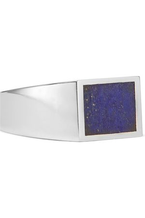 M. COHEN Sterling and Lapis Lazuli Signet Ring