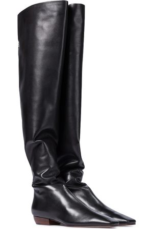 The Row Slouch leather over-the-knee boots