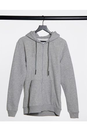 Only & Sons Zip through hoodie in light