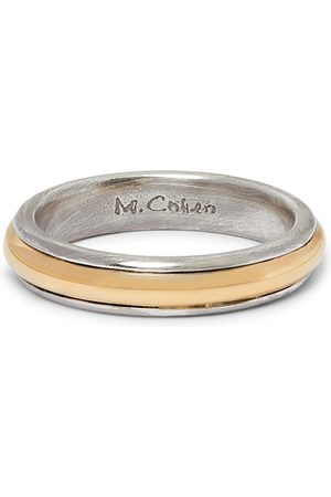 M. COHEN 18-Karat Gold and Sterling Ring