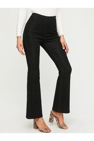 YOINS Women Bootcut & Flares - Black Stretch Waistband Flared Jeans