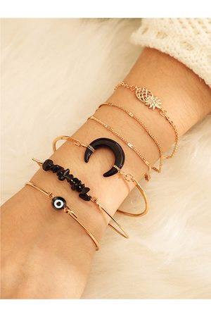 YOINS Gold Alloy Six-piece Bracelet Set