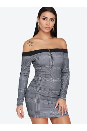 YOINS Off Shoulder Sexy Bodycon Dress