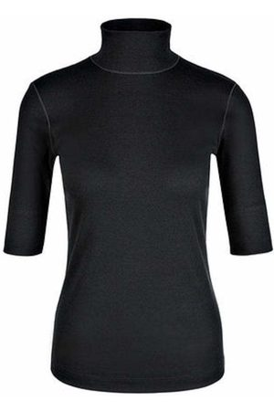 Marc Cain Basic Turtle-neck Top In Ribbed Jersey +E 48.04 J50