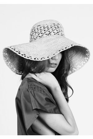 MARAINA LONDON SOFIA large sun hat-retro style beachwear- Natural