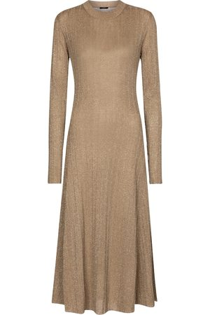 Joseph Metallic midi dress