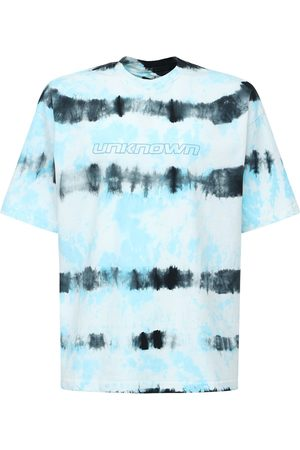 UNKNOWN Logo Tie Dye Cotton T-shirt