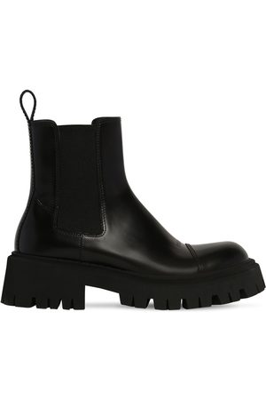 Balenciaga Men Boots - Tractor Bootie L20 Leather Boots