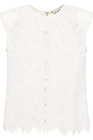 Self-Portrait Women Strapless Tops - Sleeveless Cord Lace Top