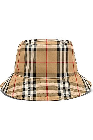 Burberry Heavy Cotton Check Bucket Hat in Archive