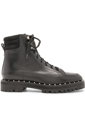 VALENTINO Leather Soul Rockstud Hiking Boots in