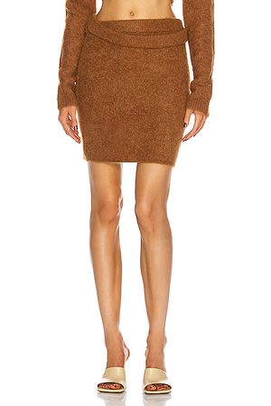 Helmut Lang Double Wrap Skirt in Sienna